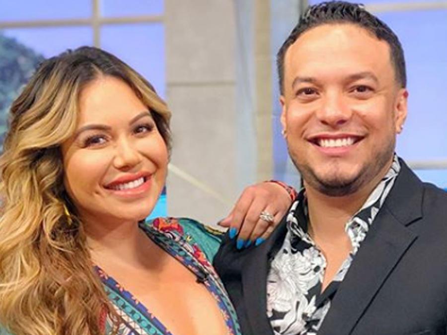 Chiquis Rivera y Lorenzo Méndez en Un Nuevo Día