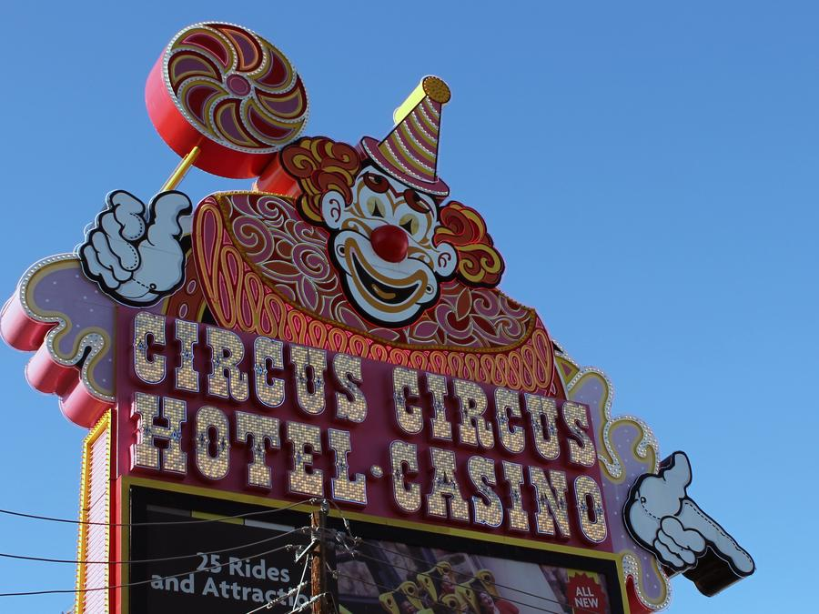 Cartel del Circus Circus Hotel-Casino en Nevada, Estados Unidos.