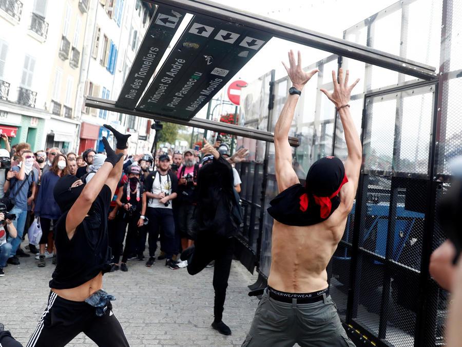 Protestas contra la reunión del G7 en Francia hoy