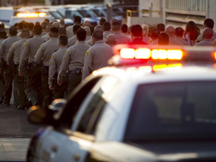 Agentes del sheriff del condado de Los Ángeles, en una imagen de archivo.