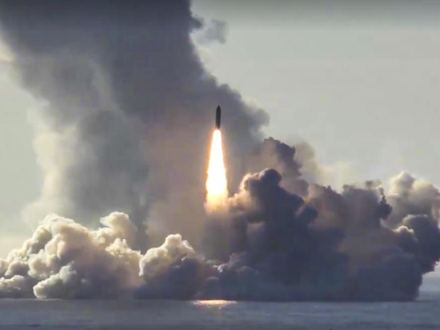 Imagen de archivo de pruebas con misiles rusos.