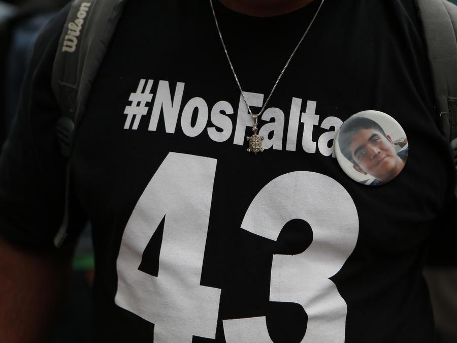 Imagen de archivo de una protesta por los desaparecidos de Ayotzinapa, en México.