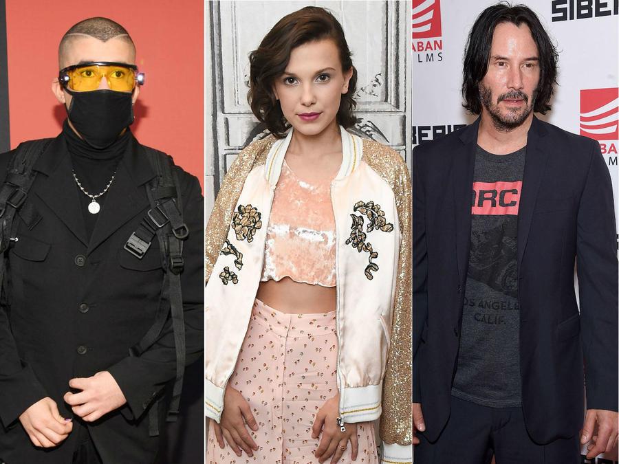 Bad Bunny, Millie Bobby Brown, Keanu Reeves, Lizzo