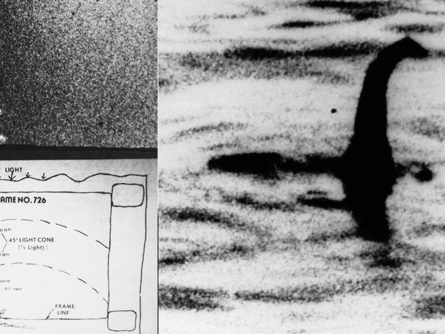 Imagenes y supuestas evidencias de la existencia del monstruo del lago Ness.