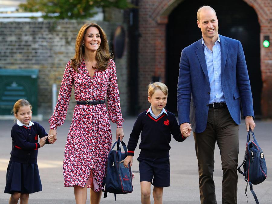 La princesa Charlotte tuvo su primer día de escuela