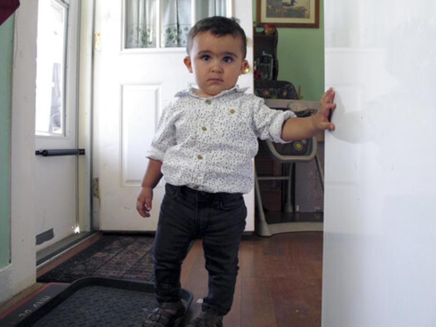 Danyal Alhallak, un niño sirio refugiado junto a sus padres en Rutland, Vermont.
