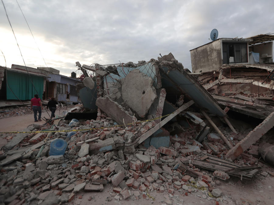Imagen de archivo de los escombros que dejo el terremoto en Jojutla, en el estado mexicano de Morelos, en septiembre de 2017.
