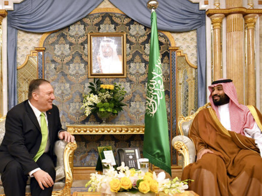 El secretario de Estado, Mike Pompeo, se reuné este miércoles con el príncipe saudí Mohammed bin Salman en Yidda (Arabia Saudita).