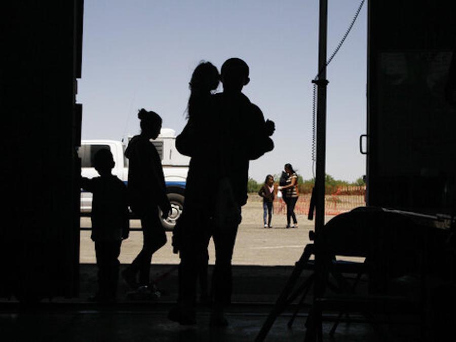 Imagen de archivo de migrantes en Deming, Nuevo México.