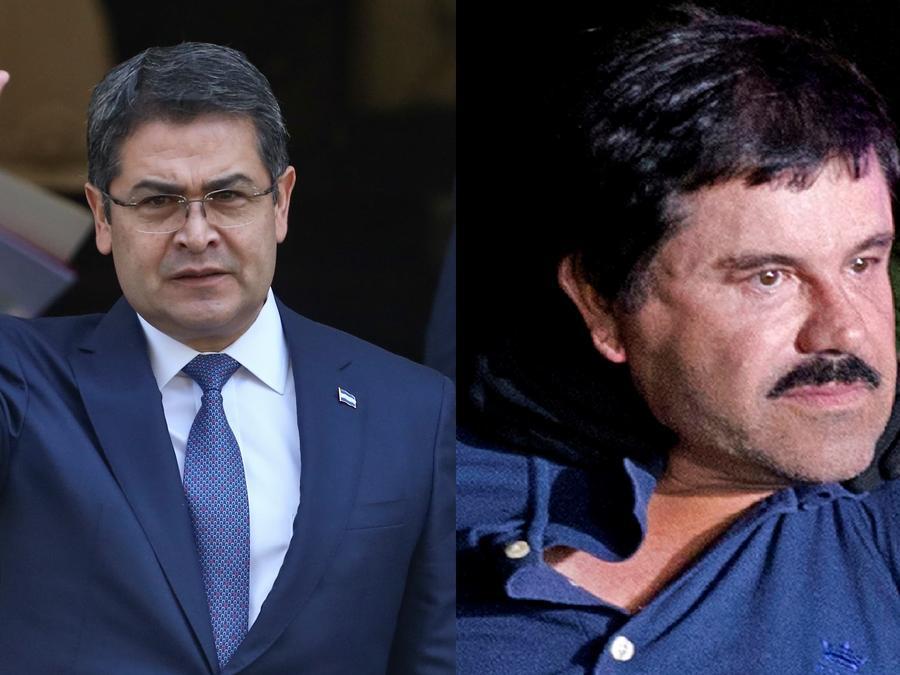 El Chapo y Juan Orlando Hernández