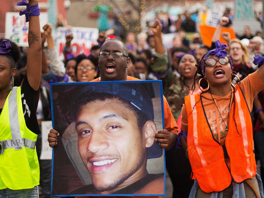 Protestas por la muerte de Anthony Hill en Georgia en 2015