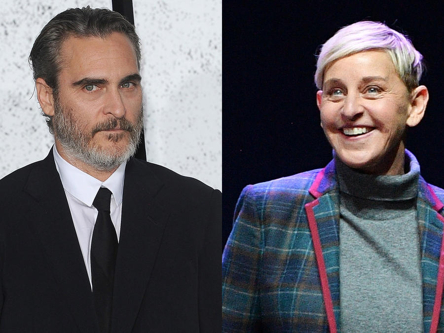 Joaquin Phoenix y Ellen DeGeneres