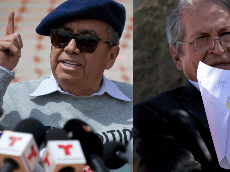 Los abogados José Luis González y Juan Pablo Badillo.