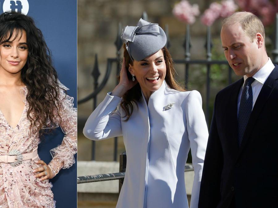 Camila Cabello; Kate Middleton y príncipe William