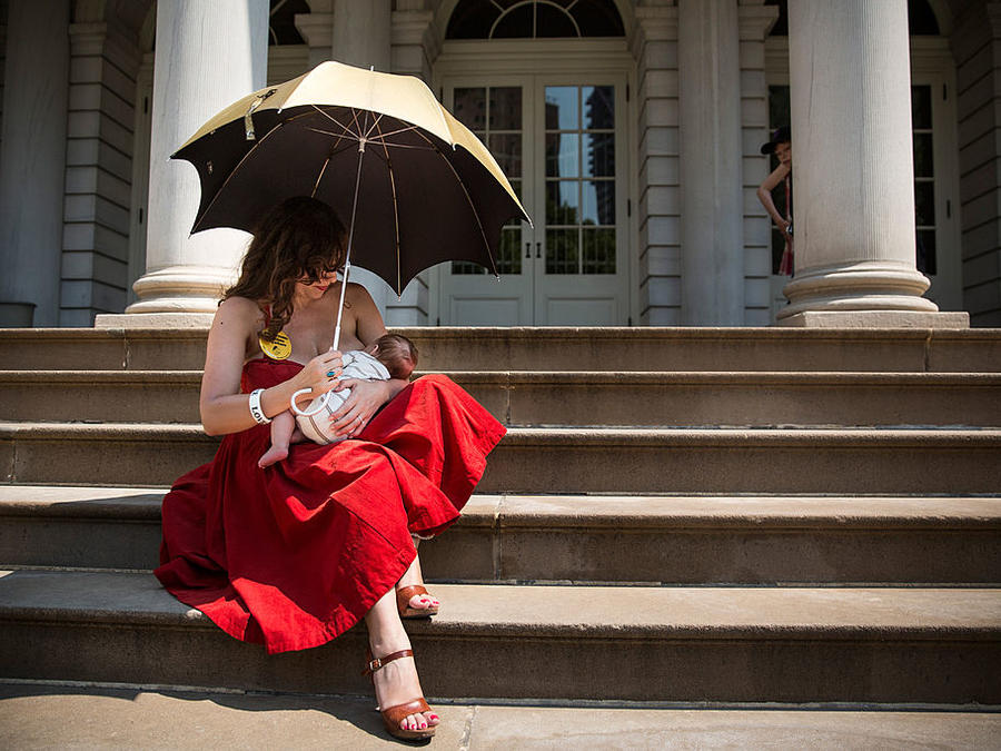 Rally At New York's City Hall Celebrates Public Breastfeeding Law