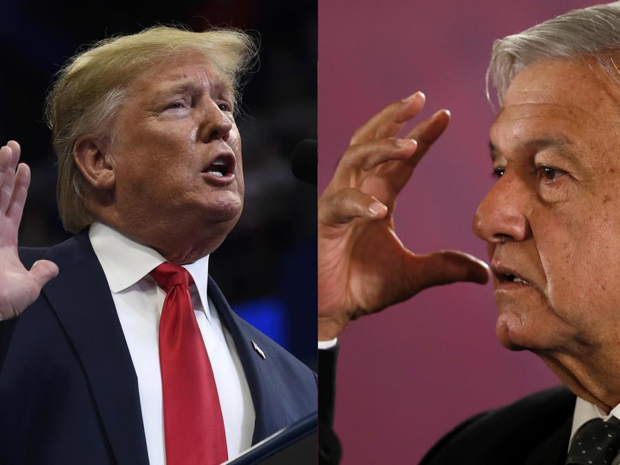 Imágenes de archivo de Trump (izquierda) y López Obrador (derecha).