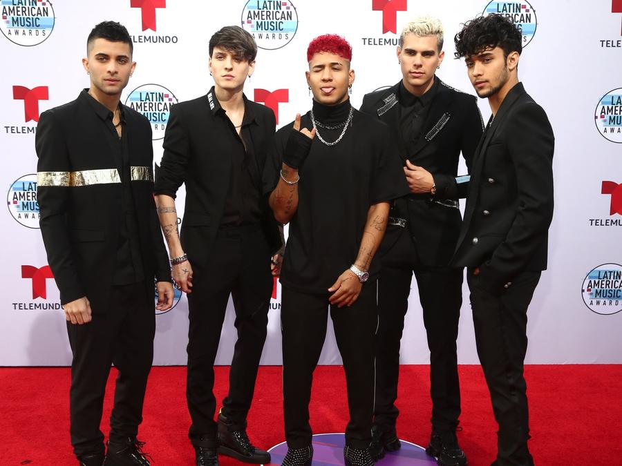 Erick Brian Colon, Christopher Velez, Richard Camacho, Zabdiel de Jesus, and Joel Pimentel of CNCO attends the 2019 Latin American Music Awards