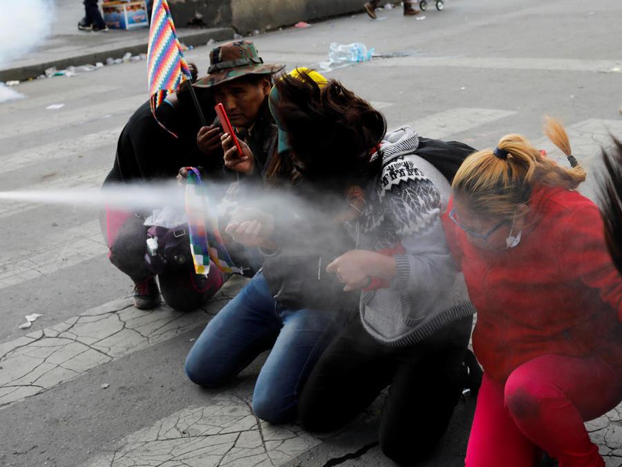 Violencia en las calles de Bolivia