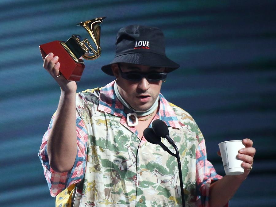 Bad Bunny at the Latin Grammys