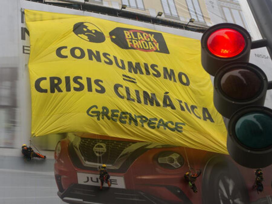 Protestas consumismo, viernes negro