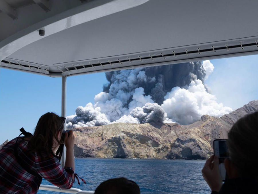 NEW ZEALAND-WHITE ISLAND-VOLCANO-ERUPTION