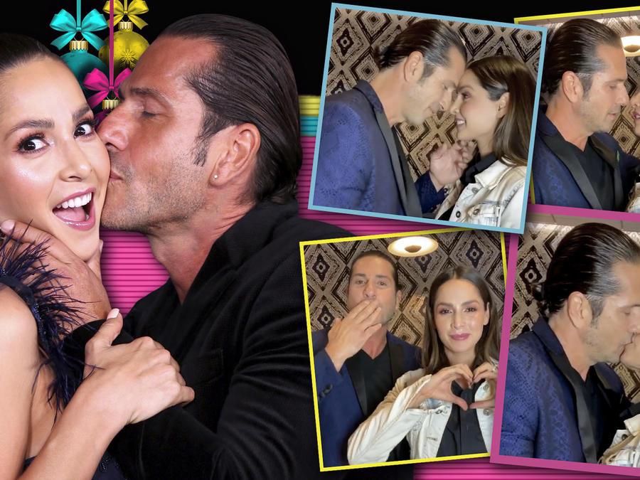 Carmen Villalobos y Gregorio Pernia beso