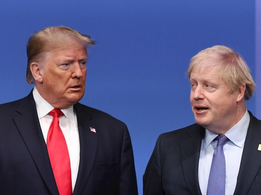 Donald Trump y Boris Johnson, el pasado 4 de diciembre durante un mitin de la OTAN celebrado en Londres.