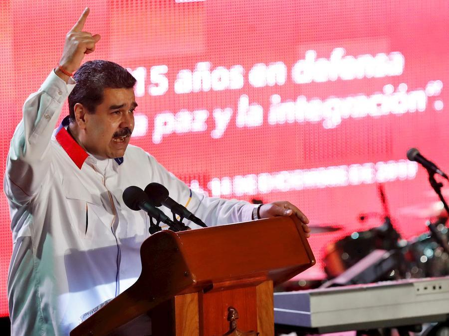 Nicolás Maduro, este sábado en Cuba durante una reunión con otros líderes izquierdistas latinoamericanos.