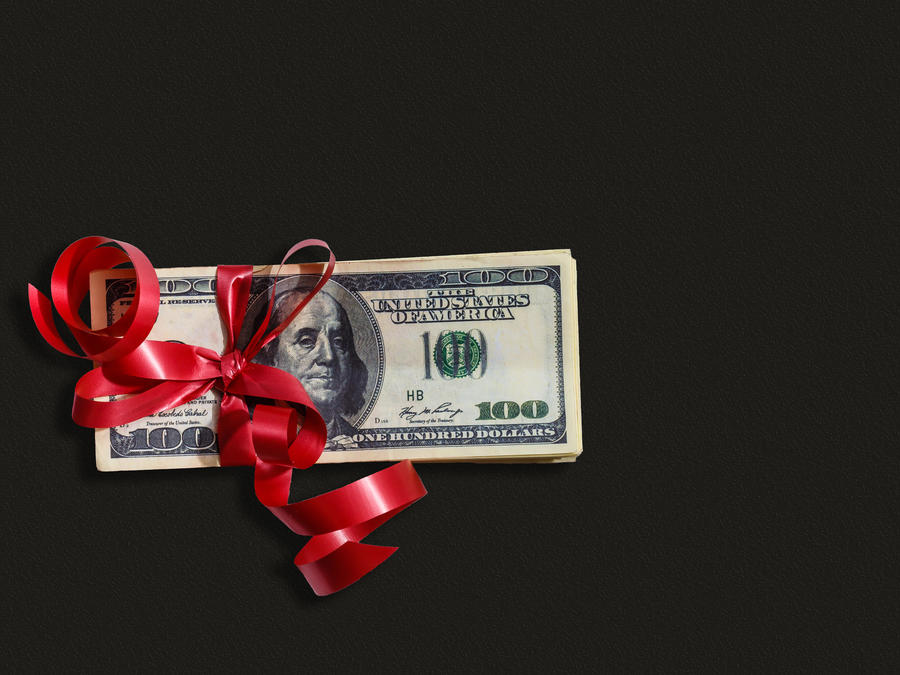 Money as a gift– stock image