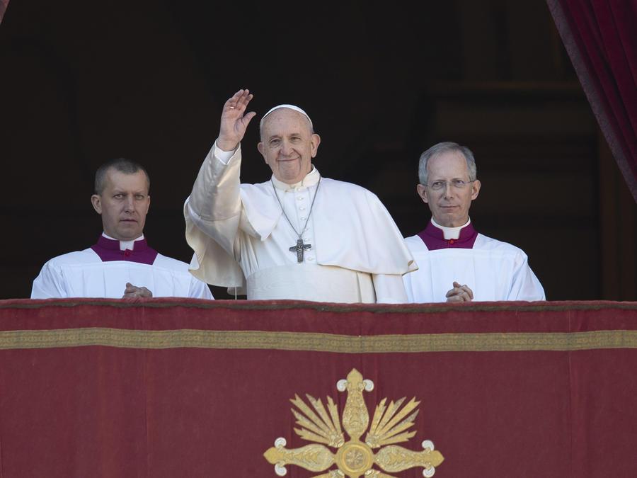El Papa Francisco en la Basílica de San Pedro, en el Vaticano.