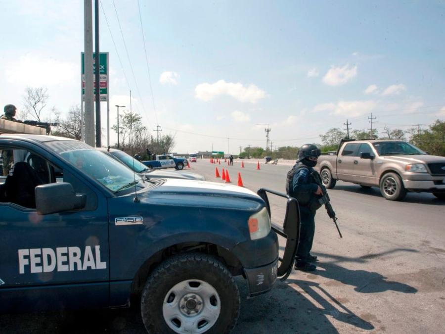 o de archivo muestra a oficial de la Policía Federal en el estado de Tamaulipas.