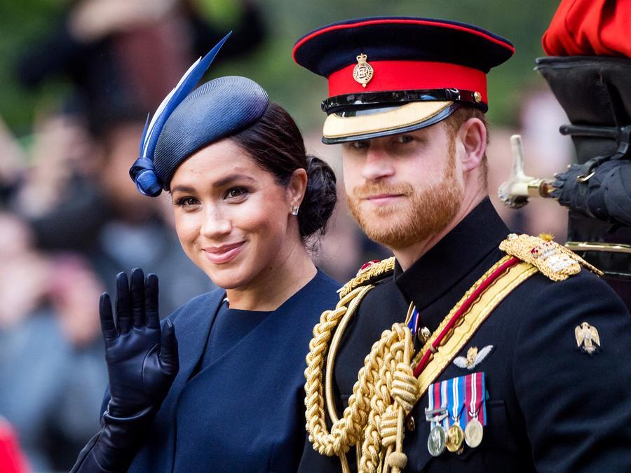 Príncipe Harry y Meghan, duque y duquesa de Sussex, en Londres el 8 de junio de 2019.