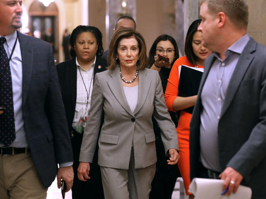 Nancy Pelosi And House Members Hold Meetings On Capitol Hill