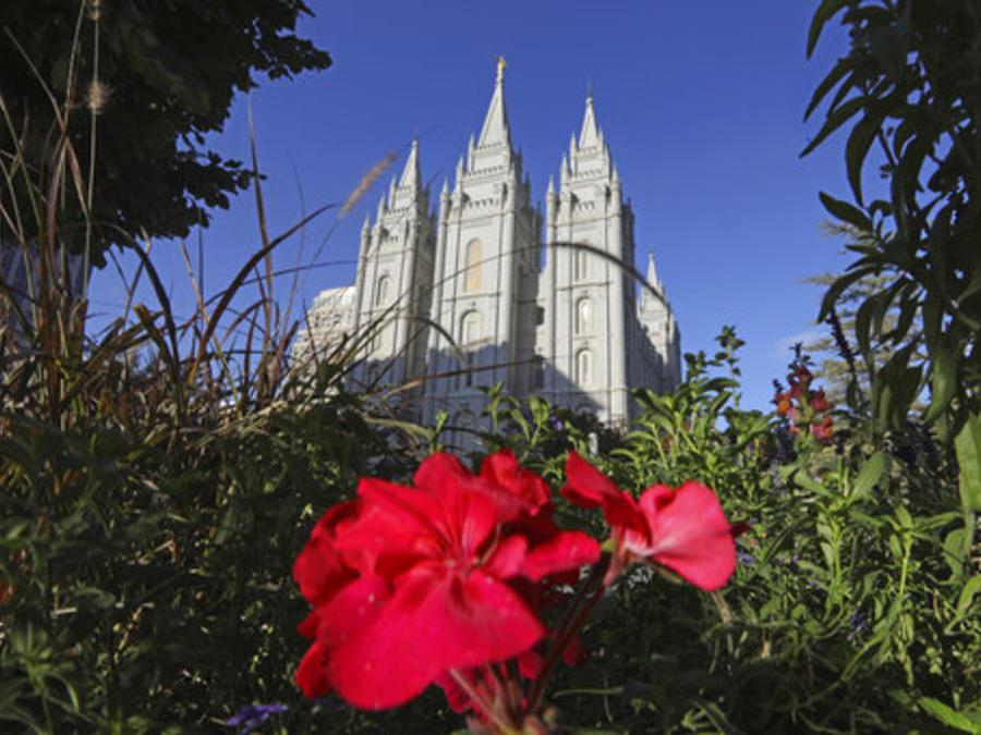 Templo de la Iglesia Mormona en Salt Lake City, Utah.