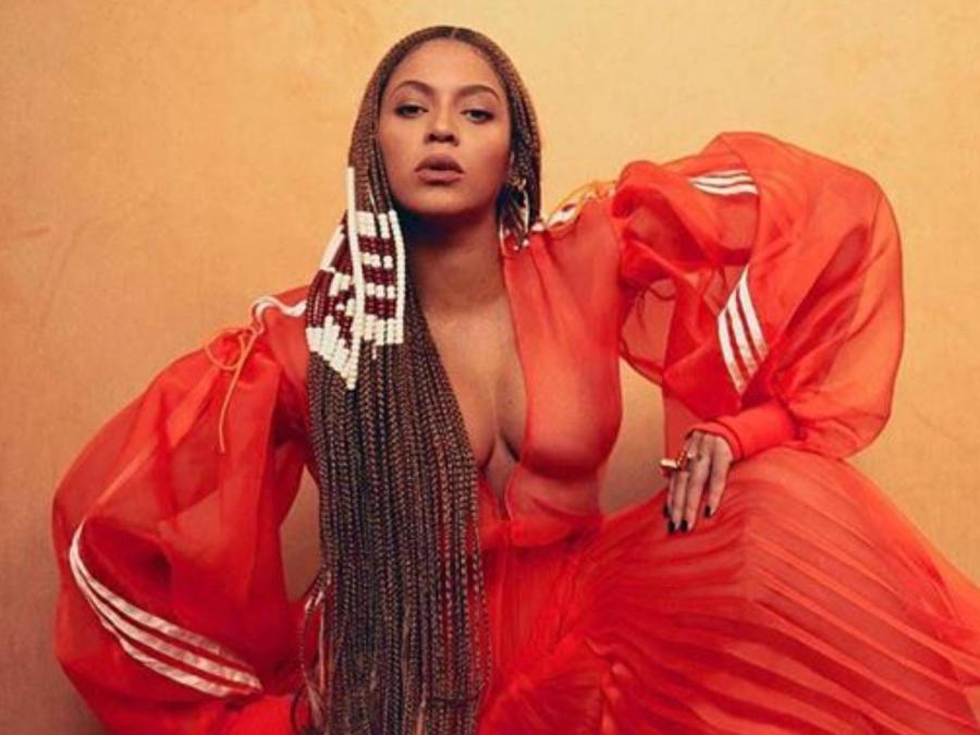 Beyoncé luciendo su nueva colección Ivy Park