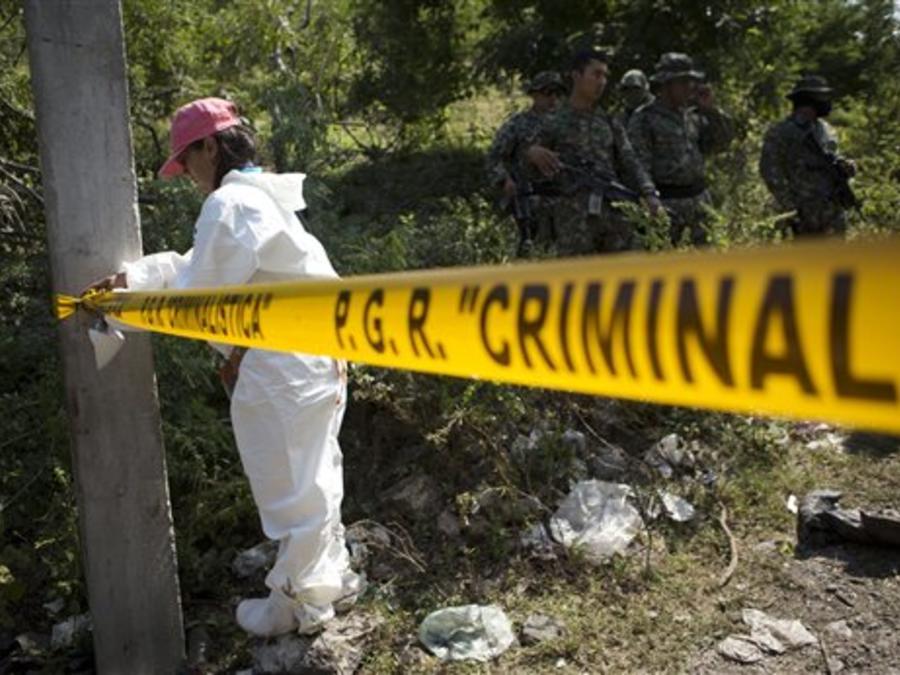 Una escena del crimen en el estado de Guerrero, México.
