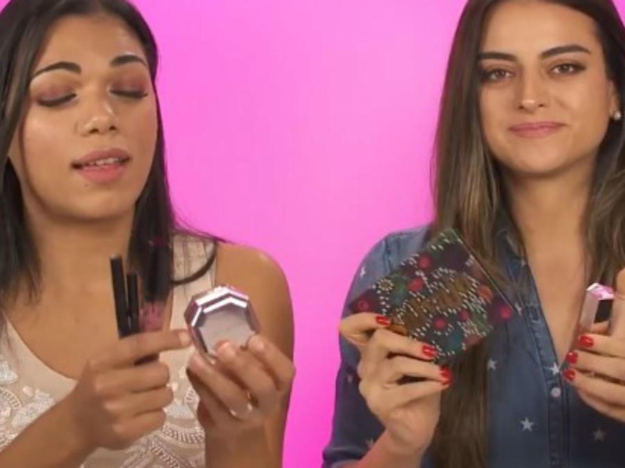 Franchesca Guim y Alix Aspe prueban maquillaje de las famosas