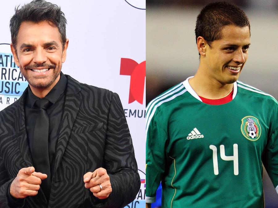 """Eugenio Derbez y Javier """"El Chicarito"""" Hernández"""