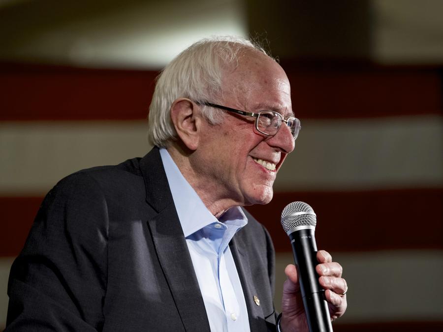 El senador por Vermont y aspirante demócrata a la presidencia Bernie Sanders