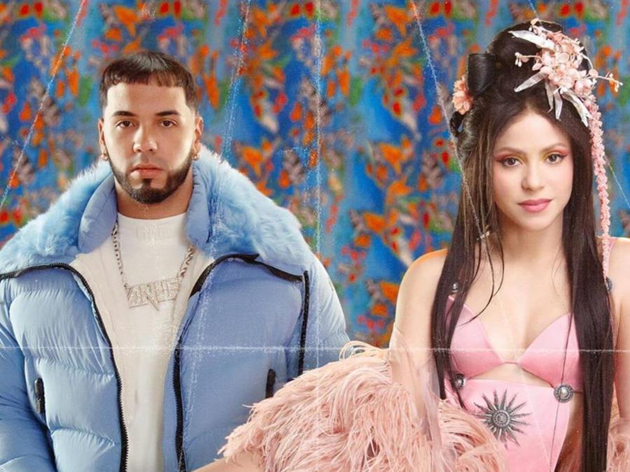 """Shakira y Anuel AA en la portada de su nuevo sencillo """"Me Gusta"""""""