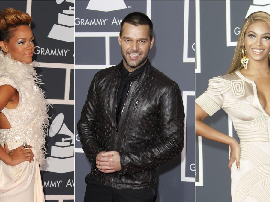 Rihanna, Ricky Martin, Beyoncé, Grammys 2010