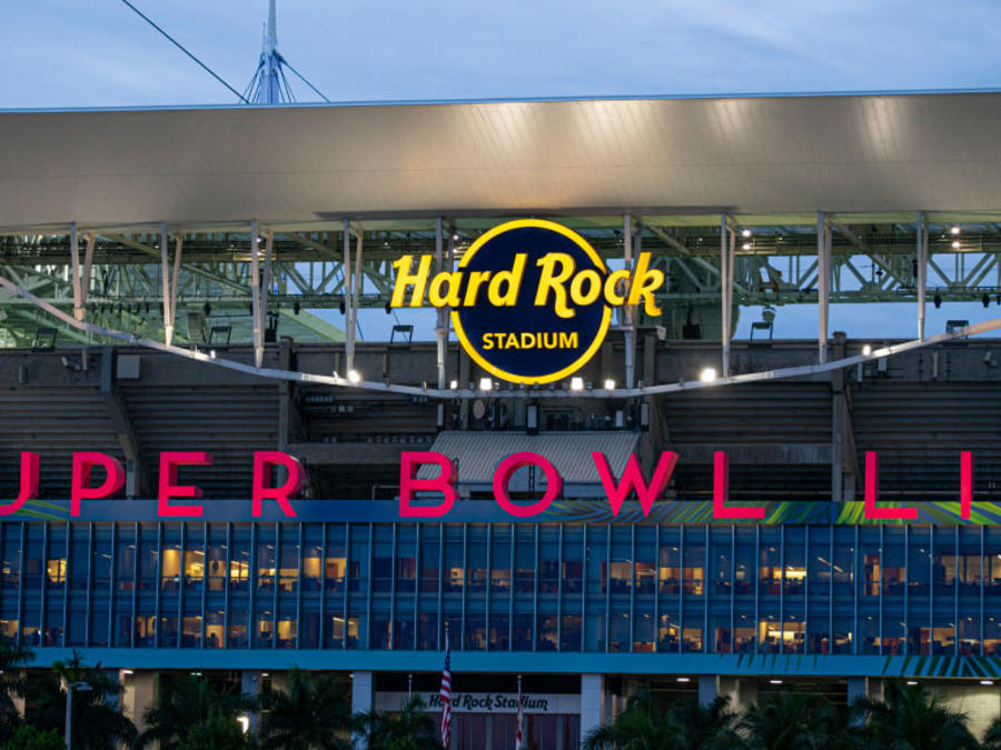 Vista del Hard Rock Stadium en Miami Gardens, donde se celebrará el evento deportivo.