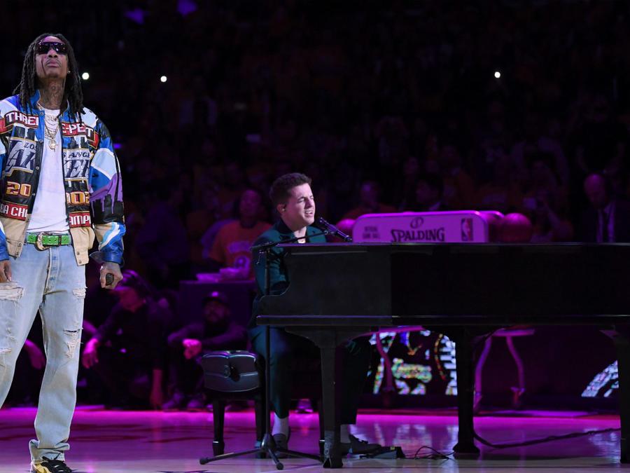 Wiz Khalifa and Charlie Puth pay tribute to the late Kobe Bryant