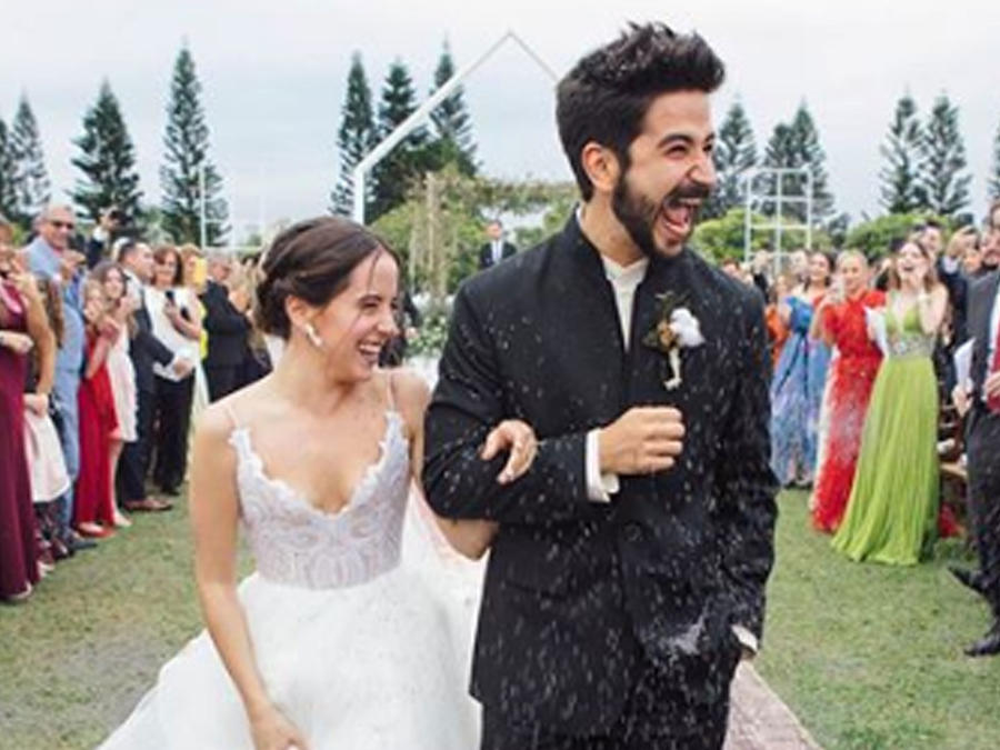 Evaluna Montaner y Camilo el día de su boda