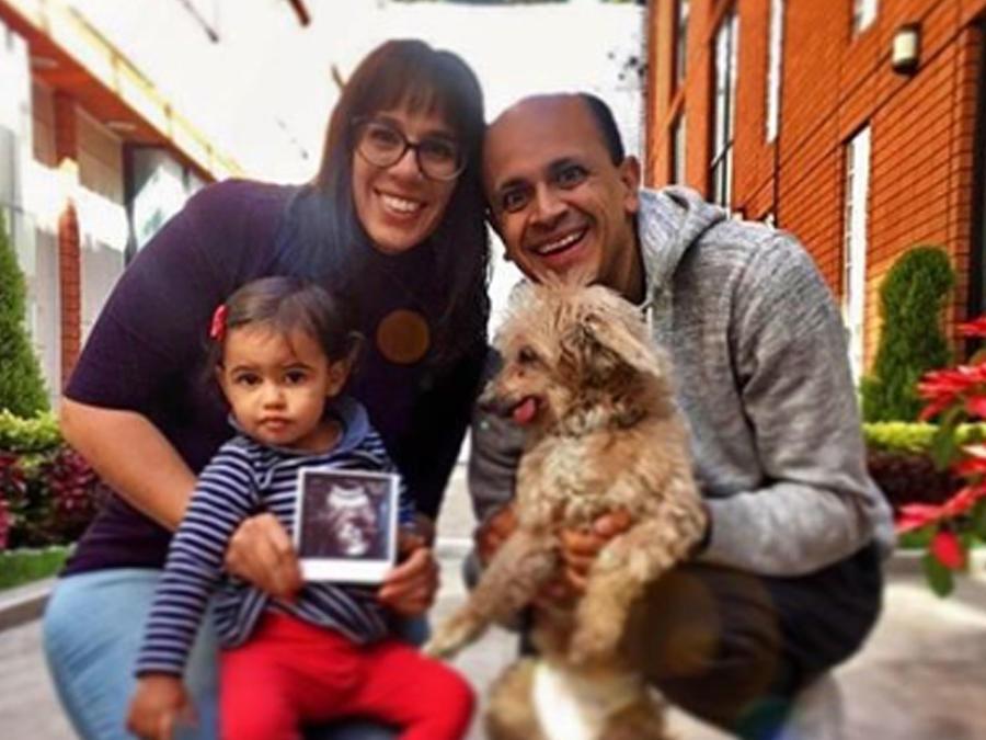 Marysol Sosa con su familia