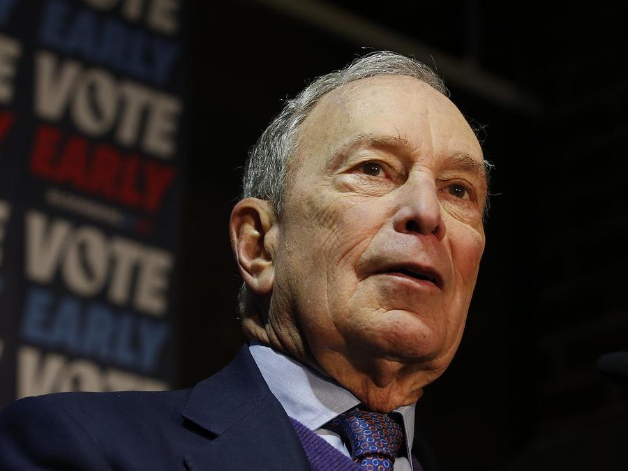 El candidato a la nominación demócrata Michael Bloomberg.