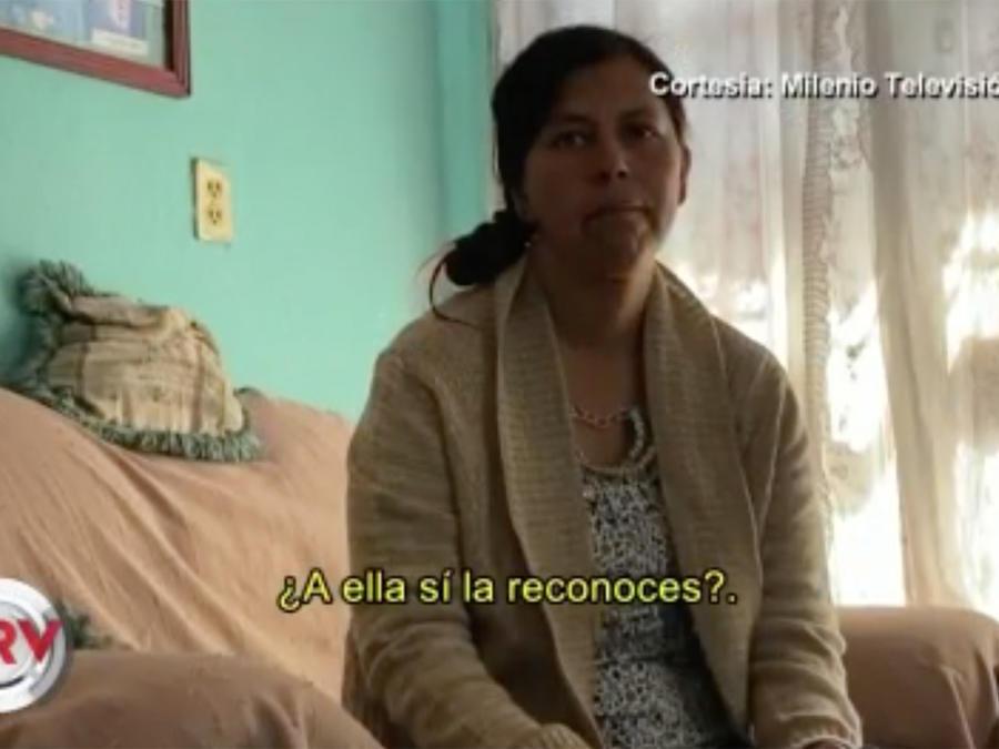 Madre de la niña Fátima