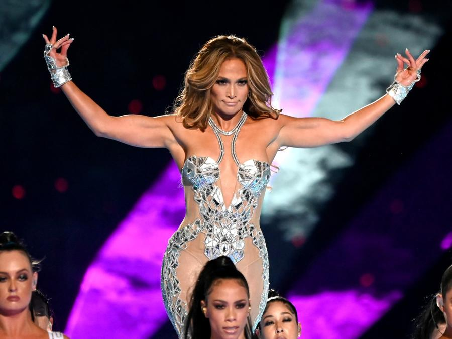 Jennifer Lopez at the Super Bowl halftime show