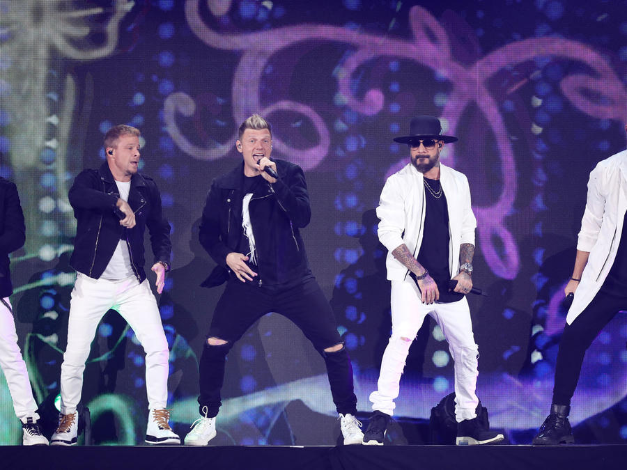 Backstreet Boys en un concierto en 2019 en Nevada
