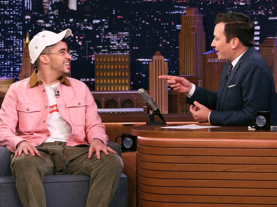 Bad Bunny on the Jimmy Fallon show
